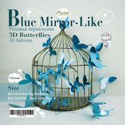 3D Chrome Mirror Butterflies Stickers Wall Decals 12 IN A PACK