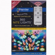 Premier Decorations 360 LED Nite Christmas House Lights Various Colour